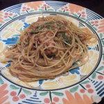 9652760 - ツナとベーコンと水菜のトマトソーススパゲティー