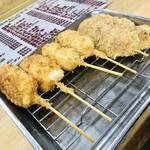 八福神 - 串カツ3種