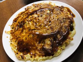 ふなまち - お好み焼きはキャベツ甘めで、あっさり。こちらも美味しいです( ^ω^ )