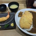 イマカツ - 「ロースカツカレー」1,550円+「大海老フライ」620円