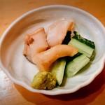 鮨ふるかわ - ミル貝ときゅうり