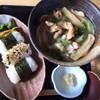 和久 - 料理写真:とり南蛮うどんとおにぎり(¥980)
