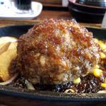 96537221 - 粗挽きビーフハンバーグステーキ定食¥900円