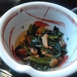 美々卯 - [料理] ほうれん草と茸のお浸し アップ♪w ①