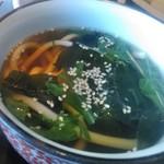美々卯 - [料理] 野菜たっぷり掛けうどん 全景♪w