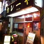 カレーや うえの - 駅を降りてすぐ、石神井川沿いにお店が見えます。
