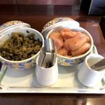 96544243 - 食べ放題の明太子と辛子高菜