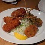 串DINING桜山 - お任せ五串盛り合わせ