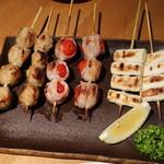 串DINING桜山 - つくね&トマト肉巻&ネギ