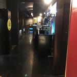 博多一番どり 居食家あらい - 暗めの店内^ ^;