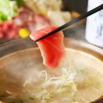 葱とマグロの鍋