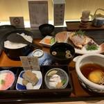 郷土料理かどや - 宇和島づくし鯛めし膳(1980円)