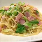 Cafe Banimatar - 京都産キャベツとベーコンのペペロンチーノ