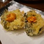チカイチ - 生雲丹の海苔カナッペ