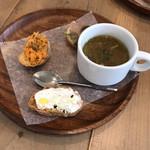 シンパティカリモーネ - 温かいスープ&前菜の盛り合わせ