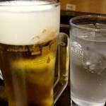 96551267 - 生ビールとライチサワー