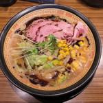 味噌神 - 料理写真:味噌神ラーメン 麺大盛り
