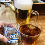 96563954 - カウンター組3人の乾杯〜〜♪