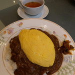 ルー・ド・メール - ドライカレー・オムレツのせ(スープ付」1100円