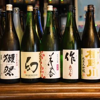 【日本各地から選び抜いた日本酒をご用意!】