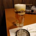 個室地鶏酒場 御蔵 - キリン一番搾り590円