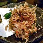 旬菜 籐や - カニ真丈の湯葉揚げ(食べかけで失礼します)