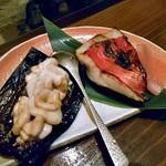 旬菜 籐や - 白子の昆布焼きとキンメダイの味噌漬け焼き