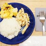 FIGHTERS DINING ROSTER - ブレックファスト 2DELI(かぼちゃと道産じゃがいものサラダ バルサミソース/イタリア豆とペンネの和風サラダ/ライス))700円