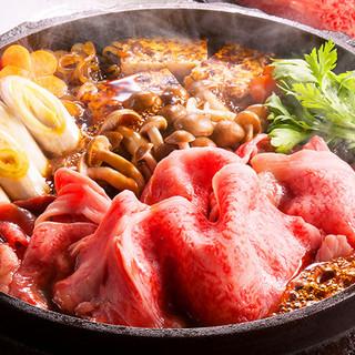 こだわりの醤油と砂糖で作る「和牛すき焼き」が旨い!