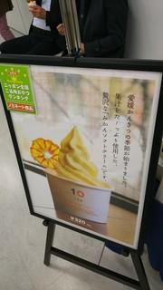 10ファクトリー - みかんソフトクリーム 320円、店頭ポスターになります