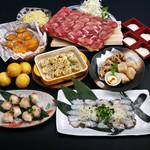 武蔵 - 瀬戸内地だこの鉄板焼き&ブリのてまり寿司+牛骨出汁で食べる牛タンしゃぶしゃぶコース