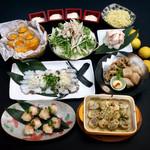 武蔵 - 瀬戸内地だこの鉄板焼き&ブリのてまり寿司+名物!国産大トロホルモン塩もつ鍋コース