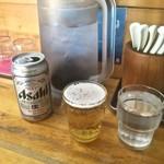 昭和歌謡ショー - ドリンク写真:ビールは缶