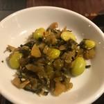 ブルーリリー 青百合飯荘  - 辛し高菜と豆