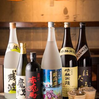 日本酒、焼酎、梅酒などなど