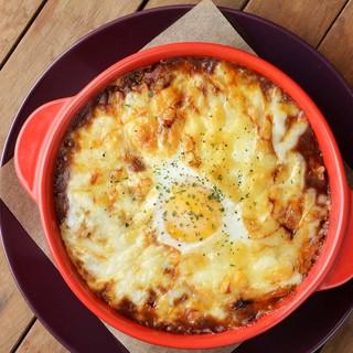 ●卵入り焼きチーズカレー♪