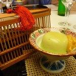 日本料理「雲海」 - 先付(名残枝豆胡麻豆腐)
