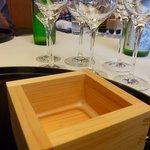 日本料理「雲海」 - 升で飲むシャンパーニュ