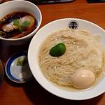 96600688 - 「鶏醤油つけそば(大盛)」+「チャーシュー増」+「メンマ増」+「味玉」
