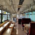 山岡駅 かんてんかん - 裏にあった列車席