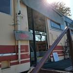 山岡駅 かんてんかん - 森の列車カフェの入口