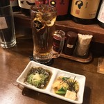 泪橋 - 泪橋(東京都中野区中野)ウーロン茶280円・お通し 400円