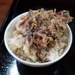 96611418 - いりこ飯+煮干しの天ぷら