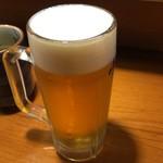 うな泰 - 生ビールもいただきました。