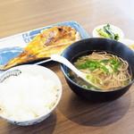 96613217 - 焼魚セット(ミニそば)