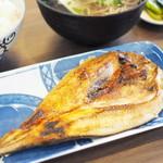 96613219 - 焼魚セット(ミニそば)