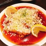 京鼎樓 - 鶏肉の薬味ソース掛け