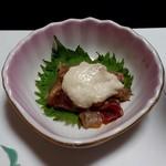 郷土料理 五色 - お通し マグロの味噌漬け