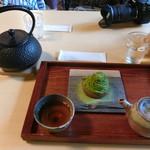 ながら茶房 本寿院 - 抹茶モンブラン(飲み物付き)