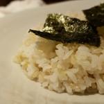 96617579 - ライス玄米の中盛り(0円)です。